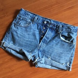Vintage Levi's 501 Button Fly Cutoff Shorts, 33